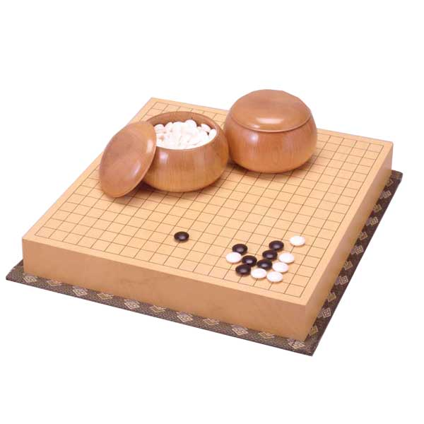 打ち味のよい碁盤をお探しの方にオススメ  囲碁セット ヒバ二寸接盤セット(日本棋院)