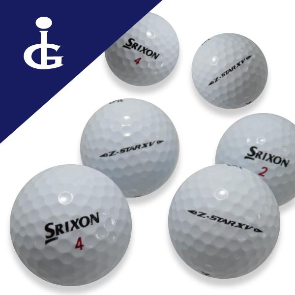 ソフトフィーリング スピン性能とともにドライバーの 飛距離性能 をさらなる高みへ 送料無料 スリクソン Z-STAR 訳ありセール 格安 2ダースロストボール ランク '19モデルカラー:ホワイト XV 未使用 中古 ゴルフボール
