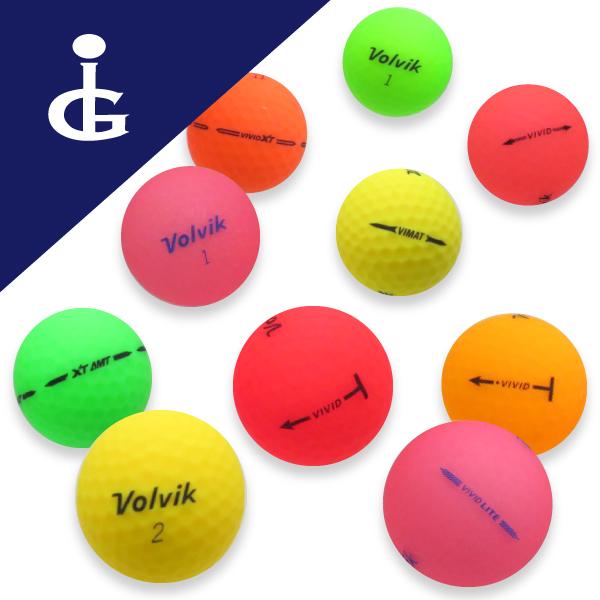 【送料無料】Volvik VIVIDカラー色々Mix★★ランク/2ダースロストボール ゴルフボール【中古】