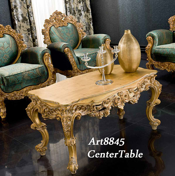 Charmant Italy Luxury Furniture Silk Center Table Antique Italy Rococo Furniture
