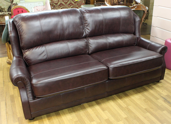Astounding British Made Leather 2 P Couch Vermont Wine Color Uwap Interior Chair Design Uwaporg