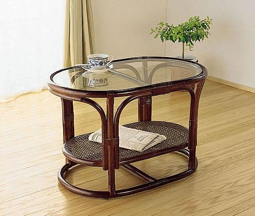 リビングテーブル,高級ラタンリビングテーブル