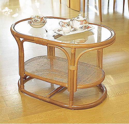 リビングテーブル/高級ラタンリビングテーブル