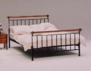 ベッドフレーム ダブル フレーム アイアンベッド 高級ベッド,ダブルベッド フレーム ヘッドレス アンティーク調 家具,