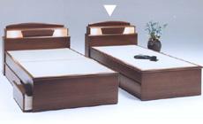 値頃 たたみベッド 宮付 照明ライト付畳ベッド シングルベッド,人気のたたみベッド 宮付 照明付宮には小物収納引出し付,パネル型3分割収納引出し付, みずらいふ:a004972d --- canoncity.azurewebsites.net