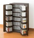 日本製 本棚 書棚 CDラック DVDラック 収納棚,コミックラック コミック 収納 棚 収納庫 カギ付,日本製 両開き扉 収納ラック 幅60cm 高さ93cm
