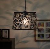 照明 リビングライト ペンダントライト リビング照明,インテリアライト インテリア照明 天井照明,小鳥柄シェード 簡単取付