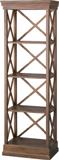 オープンラック オープンシェルフ 飾り棚,ディスプレイラック タワーラック 収納ラック 完成品,天然木製 アンティークテイスト