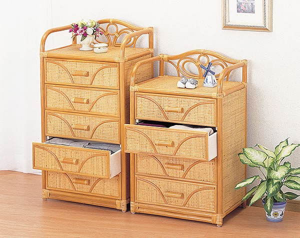 Wicker Drawer Chest Storage Of Drawers Pulls 4 Luxury Rattan Wardrobe Delivered In A Completed