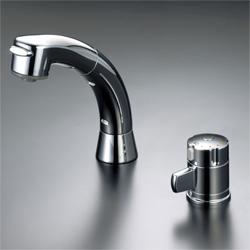 KVK 水栓金具サーモスタット式洗髪シャワー(引出式)【KF125G2N】