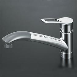 KVK 水栓金具シングルレバー式シャワー付混合栓(シャワー引出し式)【KM5031J】