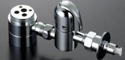 ▽KVK水栓金具 【ZK556P】流し台用シングルレバー式混合栓用分岐器具