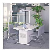 *三菱 喫煙用集塵・脱臭機 本体【BS-T13C】+テーブル板 (BT-90AC-W) 組み合わせ テーブルタイプ(90cm・灰皿つき)