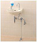 ###INAX/LIXIL セット品番【L-15G+LF-43U】平付大型手洗器(壁付式) 足踏式手洗水栓 壁排水金具(Pトラップ)