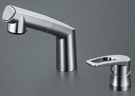 KVK 水栓金具【KM5271TA】シングルレバー式洗髪シャワー