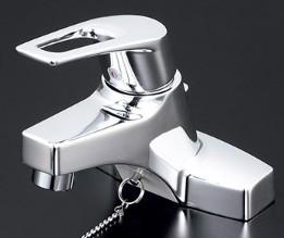 KVK 水栓金具【KM7014ZTA】洗面用シングルレバー式混合栓・ゴム栓式(寒冷地)