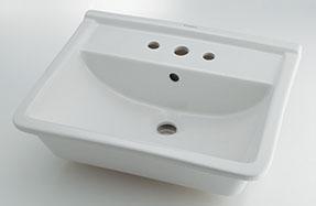 カクダイ【#DU-0302560030】角型洗面器//3ホール