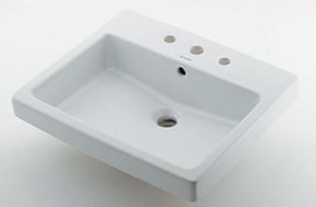 カクダイ【#DU-0315550030】角型洗面器//3ホール