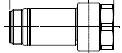 INAX LIXIL 芯間距離調整ユニオン 【K-T001A(200)】上水のみ シャワートイレ用分岐あり
