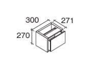 ###パナソニック 【CHDA3FC】フロート引出300 引出キャビネット 受注生産