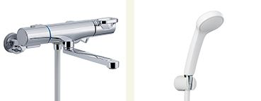 INAX 取替用水栓【BF-WM145TSG(300)】クロマーレS サーモスタット付 シャワーバス水栓 一般地 整流 吐水口長さ(自在300mm)
