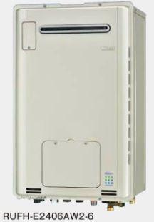 ###リンナイ ガス給湯暖房用熱源機【RUFH-E2406AW2-6】 屋外壁掛型 フルオート ecoジョーズ 暖房能力14.0kW 床暖房6系統熱動弁内蔵 24号