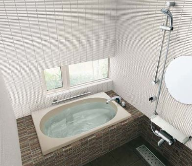 ###INAX/LIXIL グラスティN浴槽【ABND-1201HBR】サーモバスS エプロン:2方半 エプロン位置:右仕様 満水量質量:245L38kg ゴム栓 受注約2週