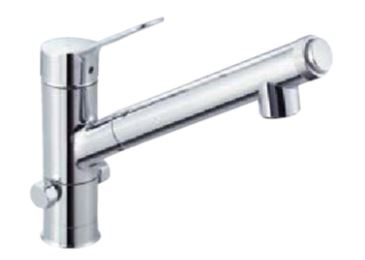 ▽INAX/LIXIL【JF-AJ461SYXB(JW)】分岐水栓(ハンドシャワー付) AJタイプ シングルレバー混合水栓(分岐口付)