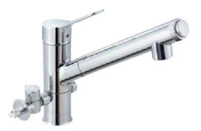 ▽INAX/LIXIL【JF-AJ461SYXBV(JW)】分岐水栓(ハンドシャワー付) AJタイプ シングルレバー混合水栓(分岐形)