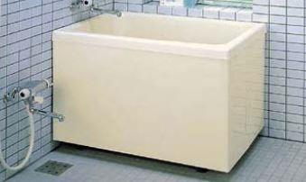 ###INAX/LIXIL ポリエック【PB-1002B(BF)R】ミスティアイボリー 右排水 1,000サイズ 和風タイプ 2方全エプロン バランス釜取付用 受注約2週