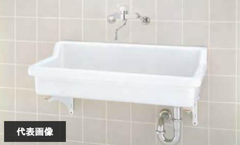 ###INAX/LIXIL【S-2】セット品番 バック付大形流し 壁排水(Pトラップ) ゴム栓付オーバーフローなし