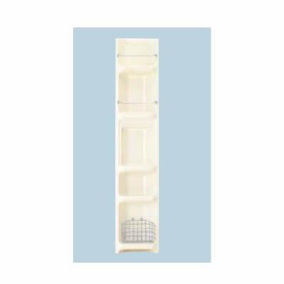 ###INAX/LIXIL 浴室収納棚【YR-221/L11】ミスティアイボリー (隅付) 落下防止バー 収納カゴ付 受注約3週