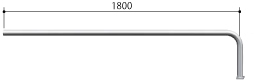 ####u.サンポール/SUNPOLE【AA-42BJ20-E】自転車アーチ ステンレス製 φ42.7 ジョイント式 エンド支柱 ベース式 受注約3週