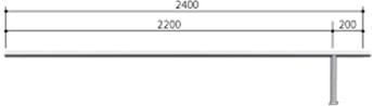 ####u.サンポール/SUNPOLE【AA-42BJ24-P】自転車アーチ ステンレス製 φ42.7 ジョイント式 中間支柱 ベース式 受注約3週