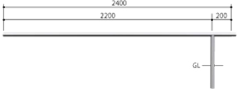 ####u.サンポール/SUNPOLE【AA-42UJ24-P】自転車アーチ ステンレス製 φ42.7 ジョイント式 中間支柱 固定式 受注約3週