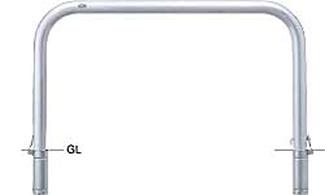 ####u.サンポール/SUNPOLE【AA-8SK15-800】アーチ ステンレス製 φ76.3 W1000 H800 差込式カギ付 受注約3週