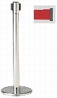 ####u.サンポール/SUNPOLE【BR-091MC(RD)】屋内型ベルトリール レッド φ60.5 H877 ヘッド回転タイプ 移動式 受注約3週