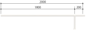 ####u.サンポール/SUNPOLE【FAA-42BJ20-P(W)】自転車アーチ スチール製 φ42.7 ジョイント式 中間支柱 ベース式 受注約3週