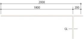 ####u.サンポール/SUNPOLE【FAA-42UJ20-P(W)】自転車アーチ スチール製 φ42.7 ジョイント式 中間支柱 固定式 受注約3週