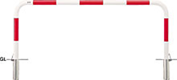 ####u.サンポール/SUNPOLE【FAA-7SF20-650(RW)】アーチ 赤白 スチール製 φ60.5 W2000 H650 差込式フタ付