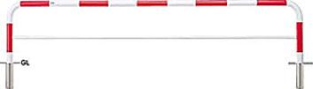 ####u.サンポール/SUNPOLE【FAH-7S30-650(RW)】アーチ 赤白 スチール製 φ60.5 W3000 H650 差込式