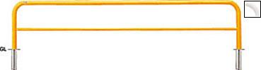 ####u.サンポール/SUNPOLE【FAH-7S30-650(Y)】アーチ 黄 スチール製 φ60.5 W3000 H650 差込式