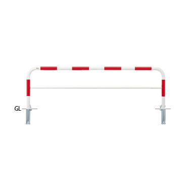 FAH 7SK25 800 人気の定番 RW ####u.サンポール SUNPOLE FAH-7SK25-800 アーチ W2500 H800 スチール製 φ60.5 差込式カギ付 おトク 赤白 受注約3週