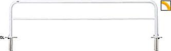 ####u.サンポール/SUNPOLE【FAH-7SK30-800(Y)】アーチ 黄 スチール製 φ60.5 W3000 H800 差込式カギ付