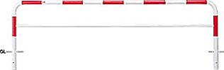####u.サンポール/SUNPOLE【FAH-7U30-800(RW)】アーチ 赤白 スチール製 φ60.5 W3000 H800 固定式
