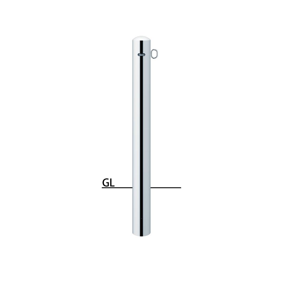 ####u.サンポール/SUNPOLE【PA-11U-F01】ピラー ステンレス製 φ101.6 H850 固定式 片フック