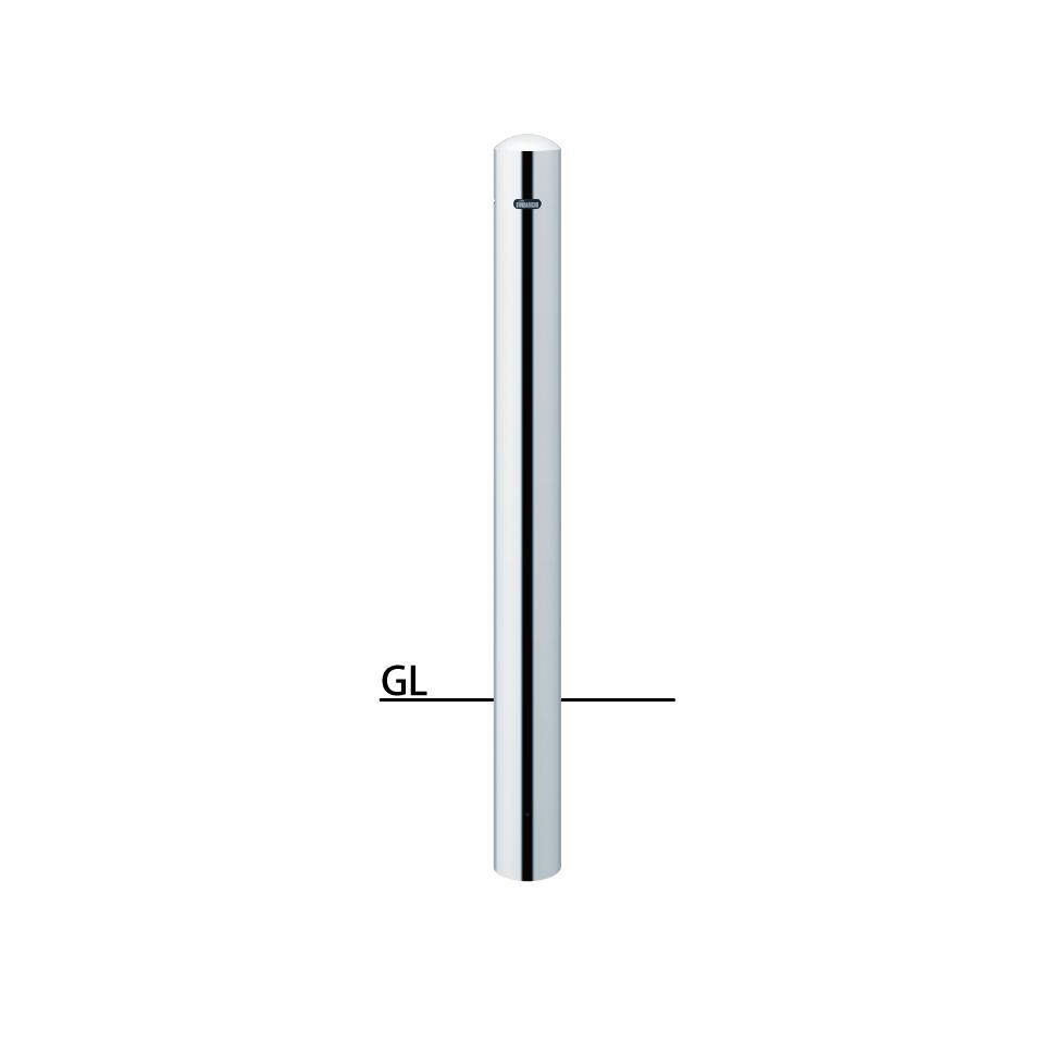 ####u.サンポール/SUNPOLE【PA-11UC-E】ピラー ステンレス製 φ101.6 H850 固定式 エンド用(最終端部)