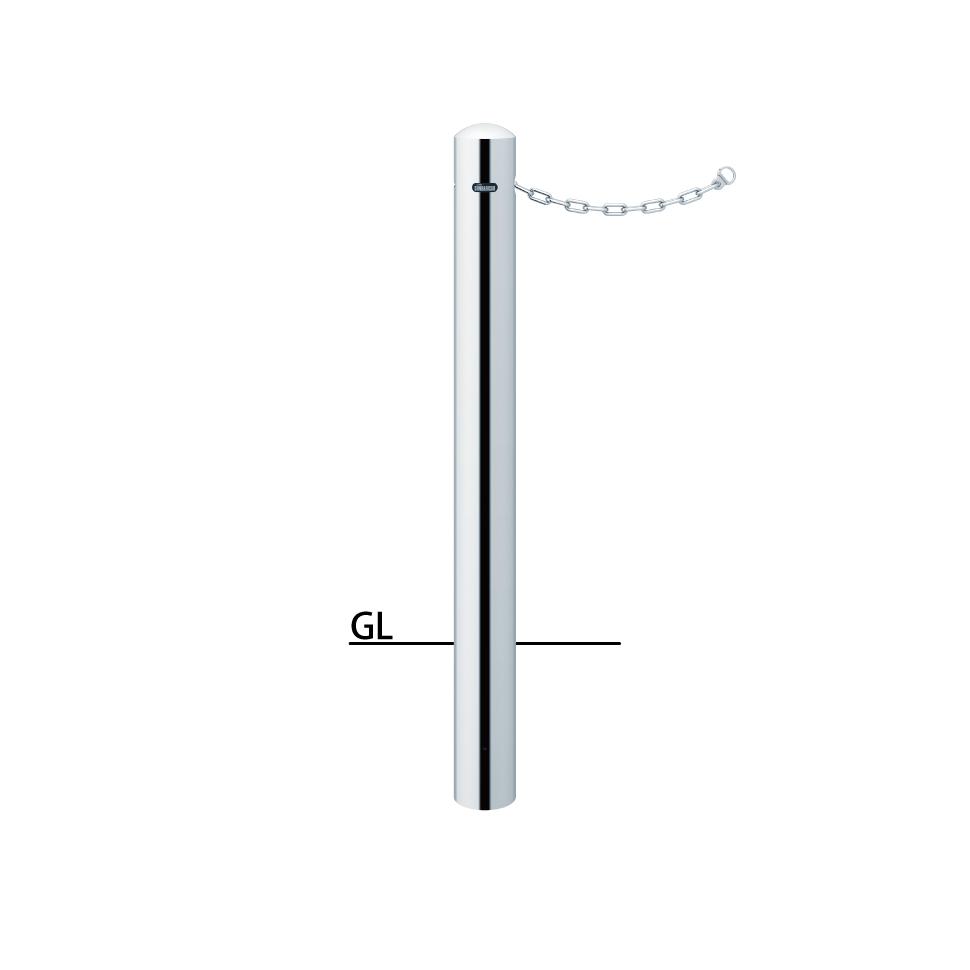 ####u.サンポール/SUNPOLE【PA-11UC】ピラー ステンレス製 φ101.6 H850 固定式 クサリ内蔵(2m)