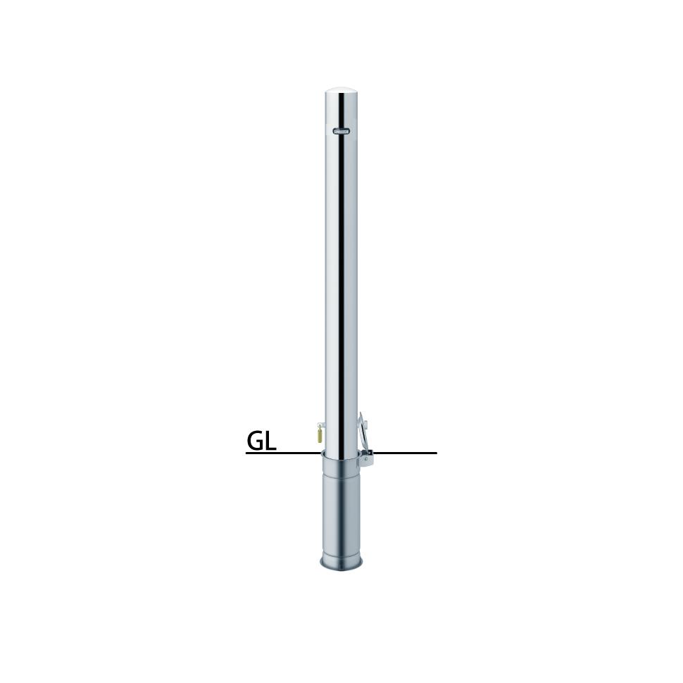 ####u.サンポール/SUNPOLE【PA-8SK-F00】ピラー ステンレス製 φ76.3 H850 差込式カギ付 フックなし