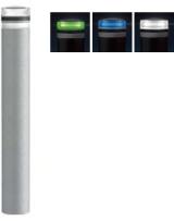 ####u.サンポール/SUNPOLE【RB-116U-SOL(NW)】ソーラーLEDボラード ホワイト φ115 リサイクルゴムチップ 点灯式 固定式 受注約3週